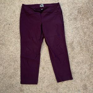 Charter Club 22W crop plum/purple pants